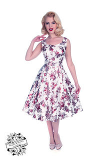 HEARTS & ROSES LONDON Aphrodite Metallic Swing Dress
