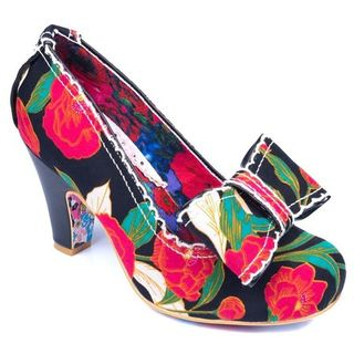 IRREGULAR CHOICE Summer Freckles Black and Red