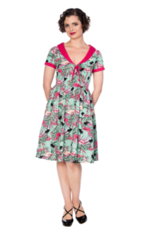 BANNED APPAREL Sweet Flamingos Fit And Flare Dress