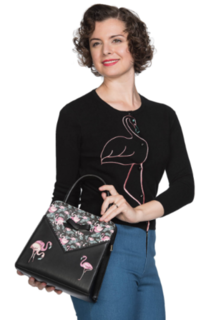 BANNED APPAREL Deluxe Flamingos Handbag