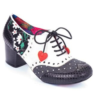 IRREGULAR CHOICE Clara Bow Black And White
