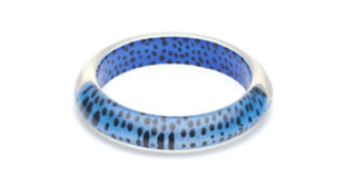 SPLENDETTE Blue Leopard Bangle
