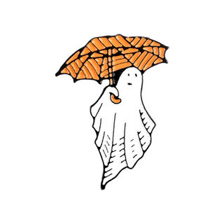 Ghost With Umbrella Pin