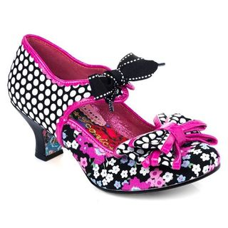 IRREGULAR CHOICE Apple Spice Black Pink