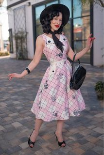 TATYANA BOUTIQUE Brigit Fit & Flare Dress in our Wonderland print by DAPPER DAY