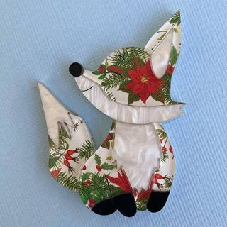 Merry The Fox Brooch