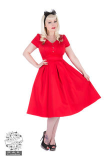 HEARTS & ROSES Red Scarlet Swing Dress
