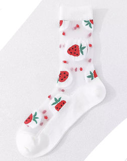 THE ROCKABILLY SHOP Crystal Berries Ankle Sock