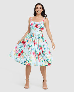 RETROSPEC'D Norma Jean Sunshine And Roses Dress