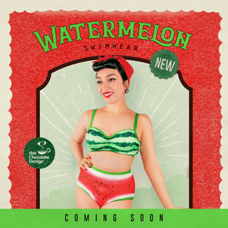 HOT CHOCOLATE DESIGN Watermelon Bikini Top