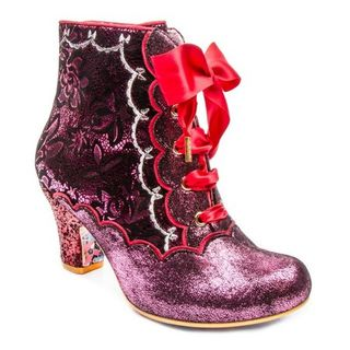 IRREGULAR CHOICE Chinese Whispers Pink boots