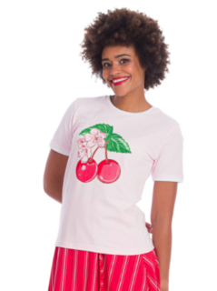 BANNED APPAREL Merry Cherry Blush Tee