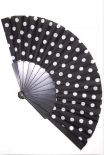 BANNED APPAREL Carmela Black Polka Dot Fan