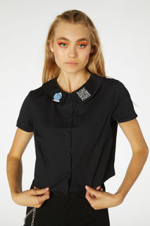 DANGERFIELD All Powerful Blouse Black