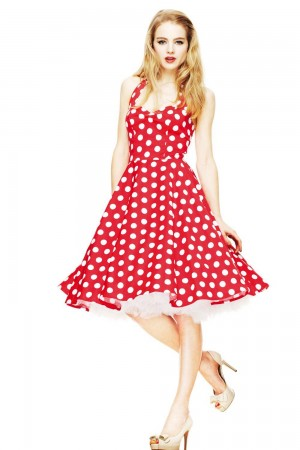 HELL BUNNY Mariam Dress Red