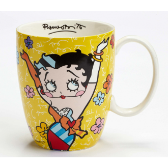BRITTO Betty Boop Mug Yellow