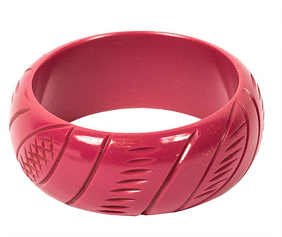 SPLENDETTE Carved Bangle Fuchsia