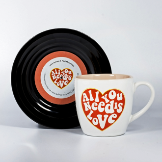 Lennon & McCartney Lyrical Mug and Saucer All You Need Is love