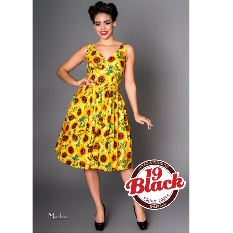 VICTORY PARADE Sunflower Retro Inspired Dress Last One Size 12