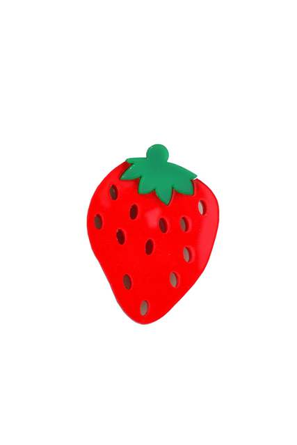 Strawberry Fruit Acrylic Brooch