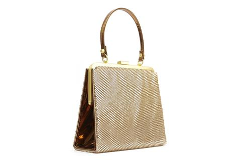 BETTIE PAGE by LOLA RAMONA Zenia Bag Gold Mesh
