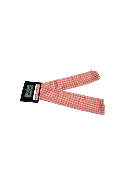COLLECTIF Pink Gingham Sash Scarf