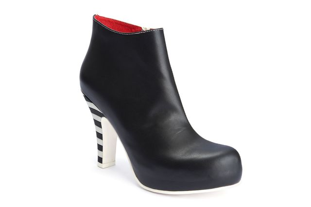 LOLA RAMONA Angie 2 Tone Black and White Ankle Boot