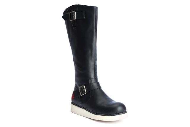 LOLA RAMONA Peggy Ranger Full Length Boots Black Buckle