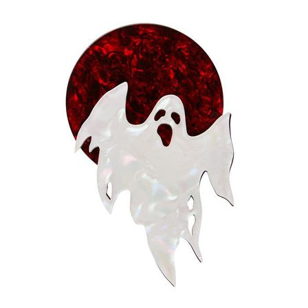 ERSTWILDER Ghostly Gary Brooch