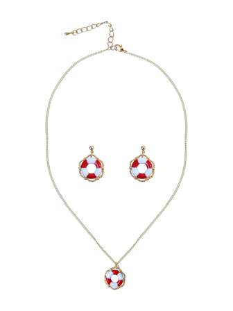 COLLECTIF Shipshape Jewellery Set Gold