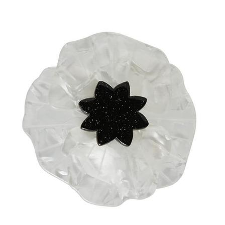 ERSTWILDER Poppy Field Brooch Cream