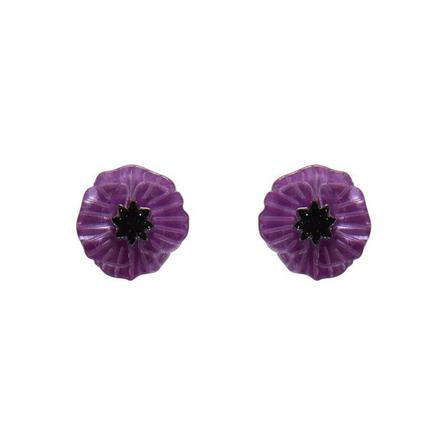 ERSTWILDER Purple Poppy Earrings