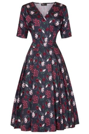 LADY VINTAGE Estella Dress Pinup Python