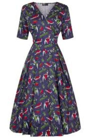 LADY VINTAGE Estella Dress Stitched Up Pinup