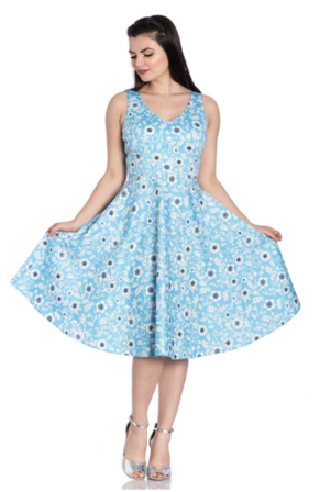 HELL BUNNY Blue Daphne Dress