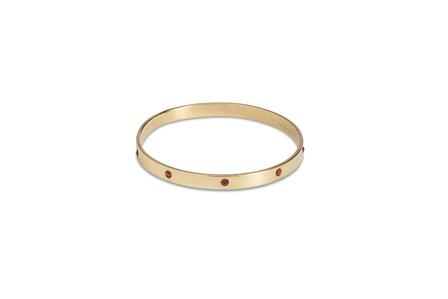 SPLENDETTE Gold Bangle With ruby Diamantes