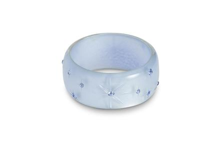 SPLENDETTE Extra Wide Baby Blue Moonglow Bangle