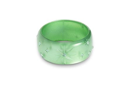 SPLENDETTE Extra Wide Seafoam Moonglow Bangle
