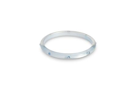 SPLENDETTE Narrow Baby Blue Moonglow Bangle