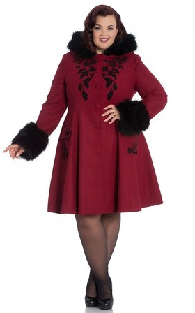 HELL BUNNY Sherwood Coat Red