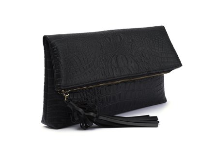 BETTIE PAGE BAGS BY LOLA RAMONA Joy Black Clutch