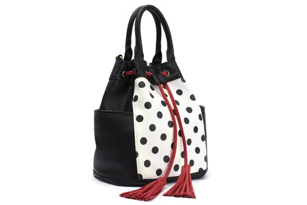 BETTIE PAGE BAGS BY LOLA RAMONA Honey Polkadot