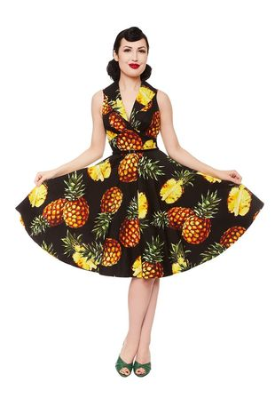 REBEL LOVE CLOTHING Hello Darling Pineapple Dress Last One Size 10