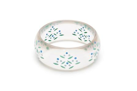SPLENDETTE Wide Bluebell Reverse Carved Bangle