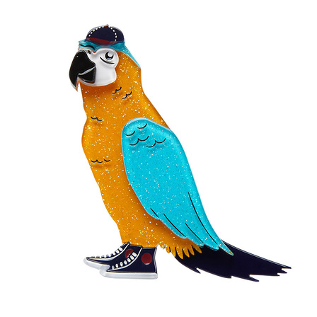 ERSTWILDER Corey The Macaw Brooch