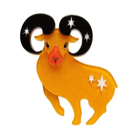 ERSTWILDER Aries The Achiever Brooch