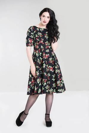 HELL BUNNY Cherie 50s Dress Cherry Last One Size 18