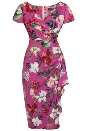 LADY VINTAGE Elsie Dress Balearic Garden