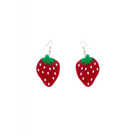 COLLECTIF Strawberry Drop Earrings