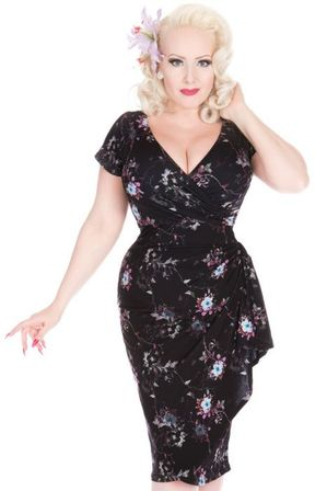 LADY VINTAGE Elsie Dress Night Sky